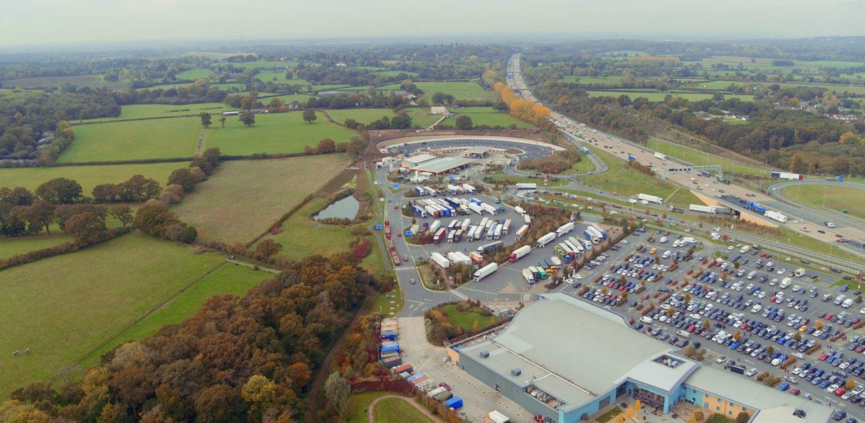 Cobham Services HGV Extension, Surrey