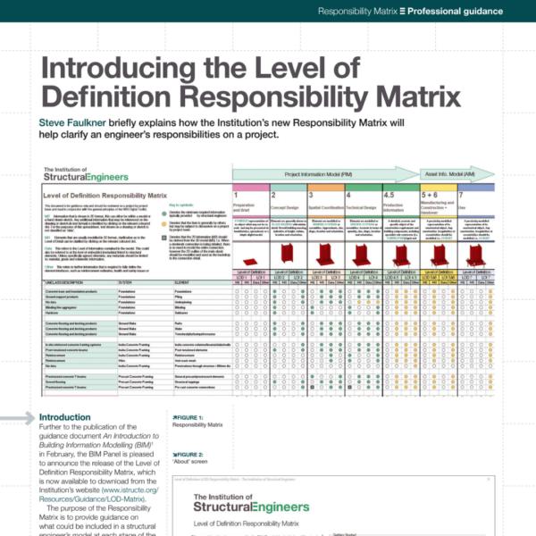 Steve Faulkner on the launch of IStructE's Level of Definition Responsibility Matrix