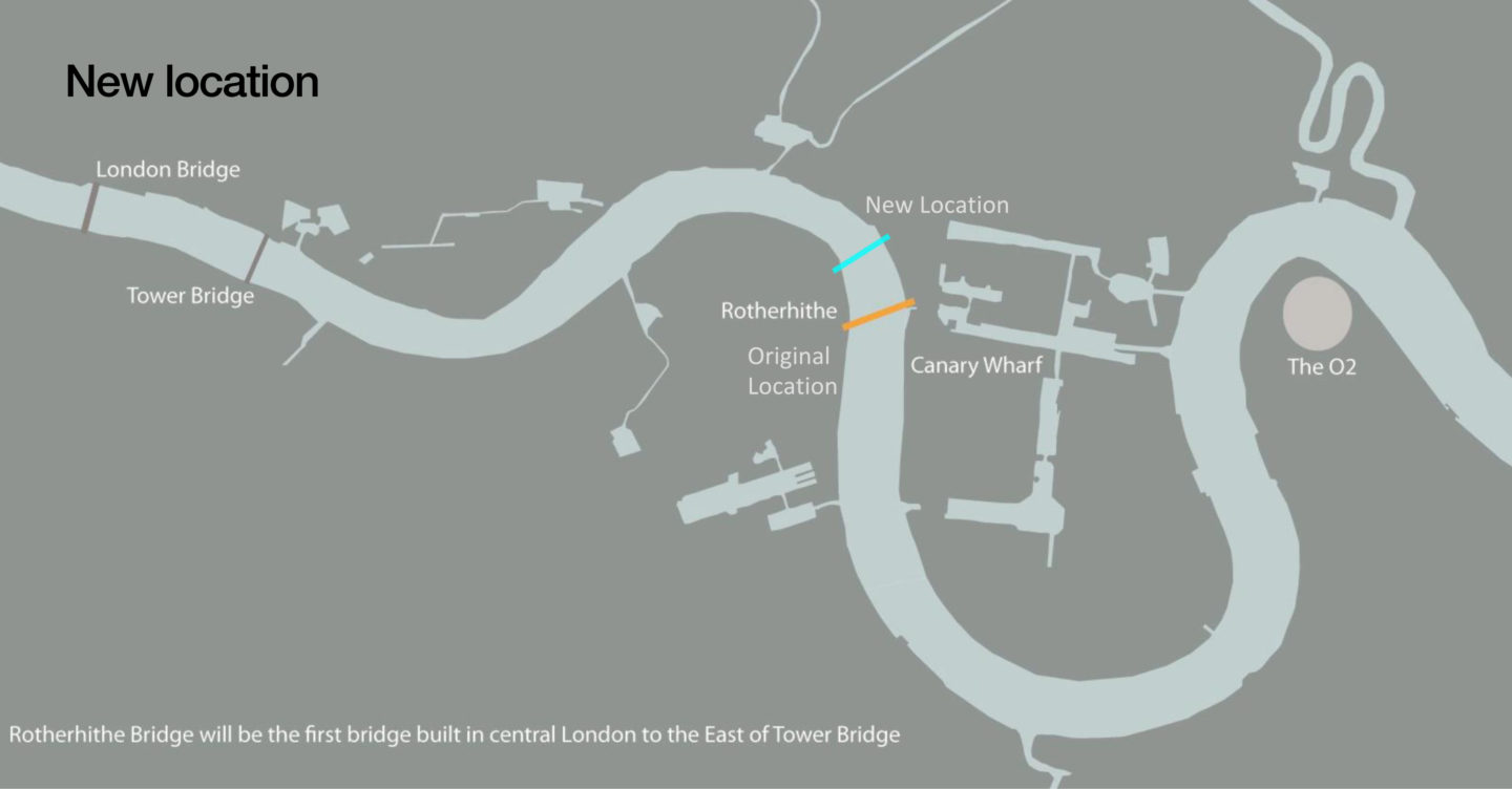 Rotherhithe Bridge will be the first bridge to be built in central London to the East of Tower Bridge
